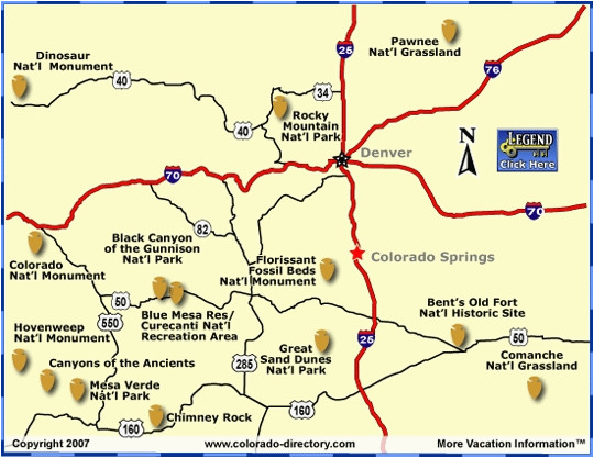 Colorado National Monument Map Colorado National Parks Map ...