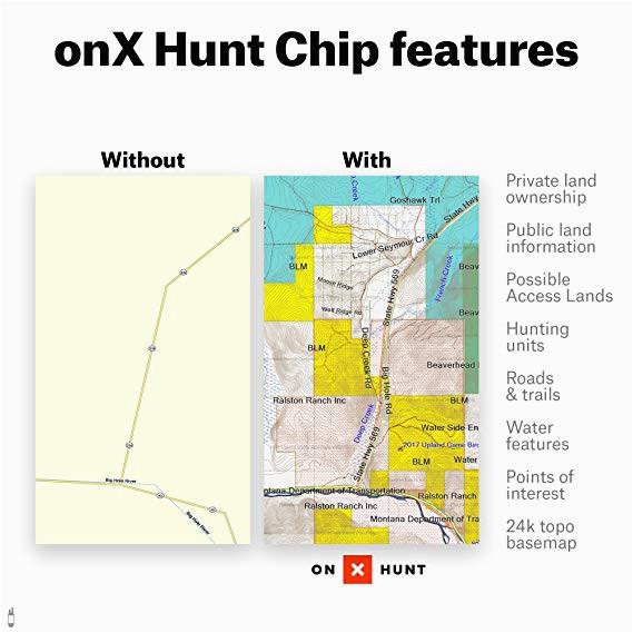 amazon com colorado hunting maps onx hunt chip for garmin gps