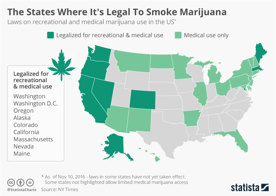 recreational weed states 2017 map new marijuana legal us maps 2017