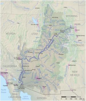 Colorado River Drainage Basin Map List Of Tributaries Of the Colorado River Revolvy