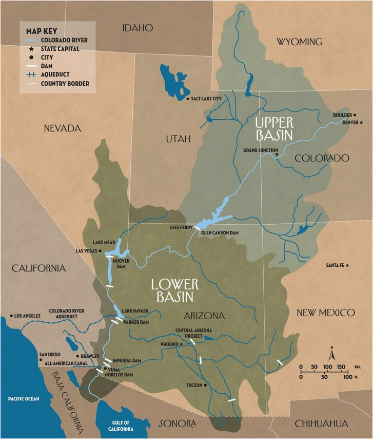 Map Of Colorado River In Arizona.Colorado River Map Arizona The Disappearing Colorado River The New