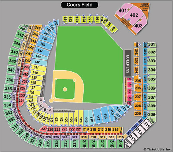 Colorado Rockies Seat Map | secretmuseum
