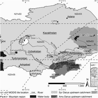 pdf snow cover variability in central asia between 2000 and 2011