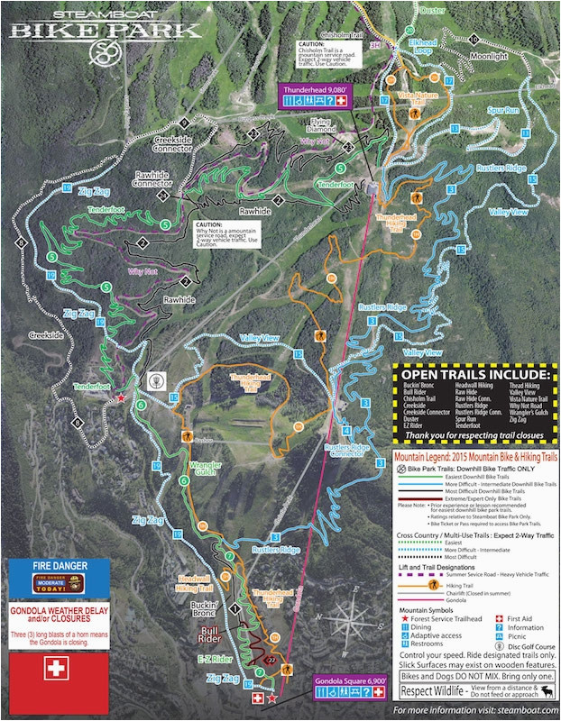 Colorado Springs Bike Trail Map Steamboat Mountain Bike Park ...