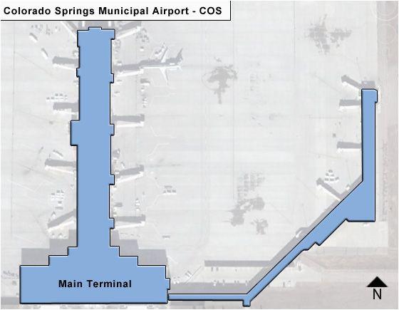 Colorado Springs Bus Route Map Colorado Springs Municipal Cos Airport Terminal Map
