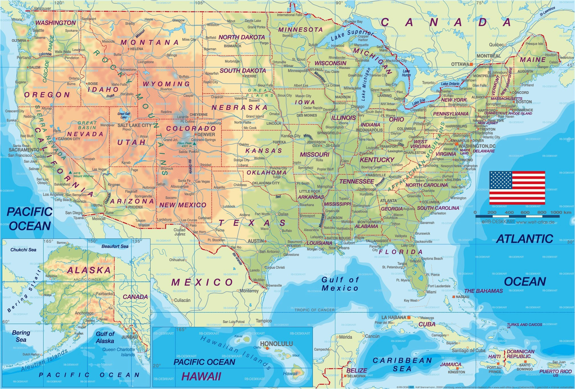 Colorado State Map with Cities United States Map with Cities ...