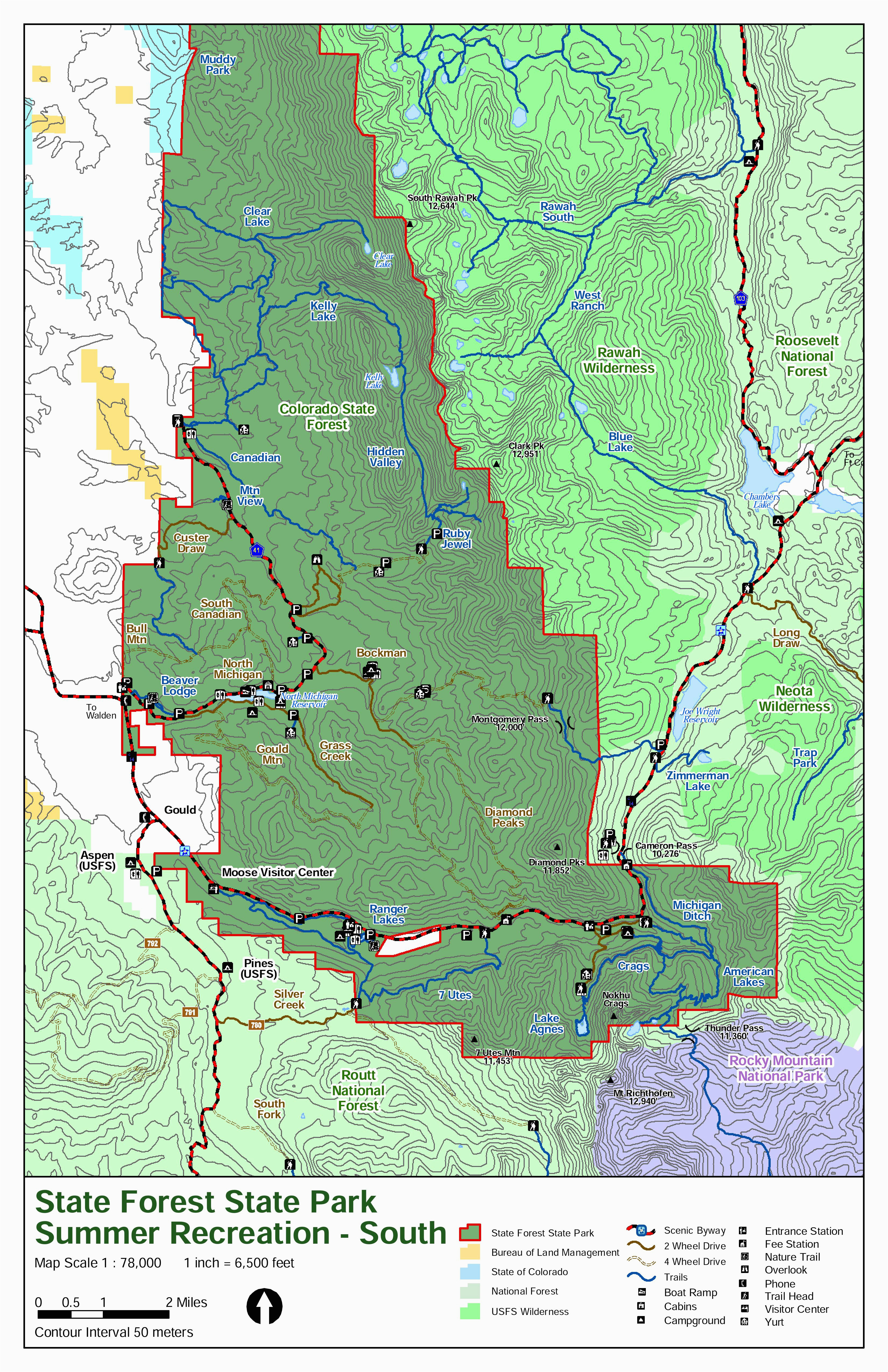 colorado national forest map fresh colorado county map with cities