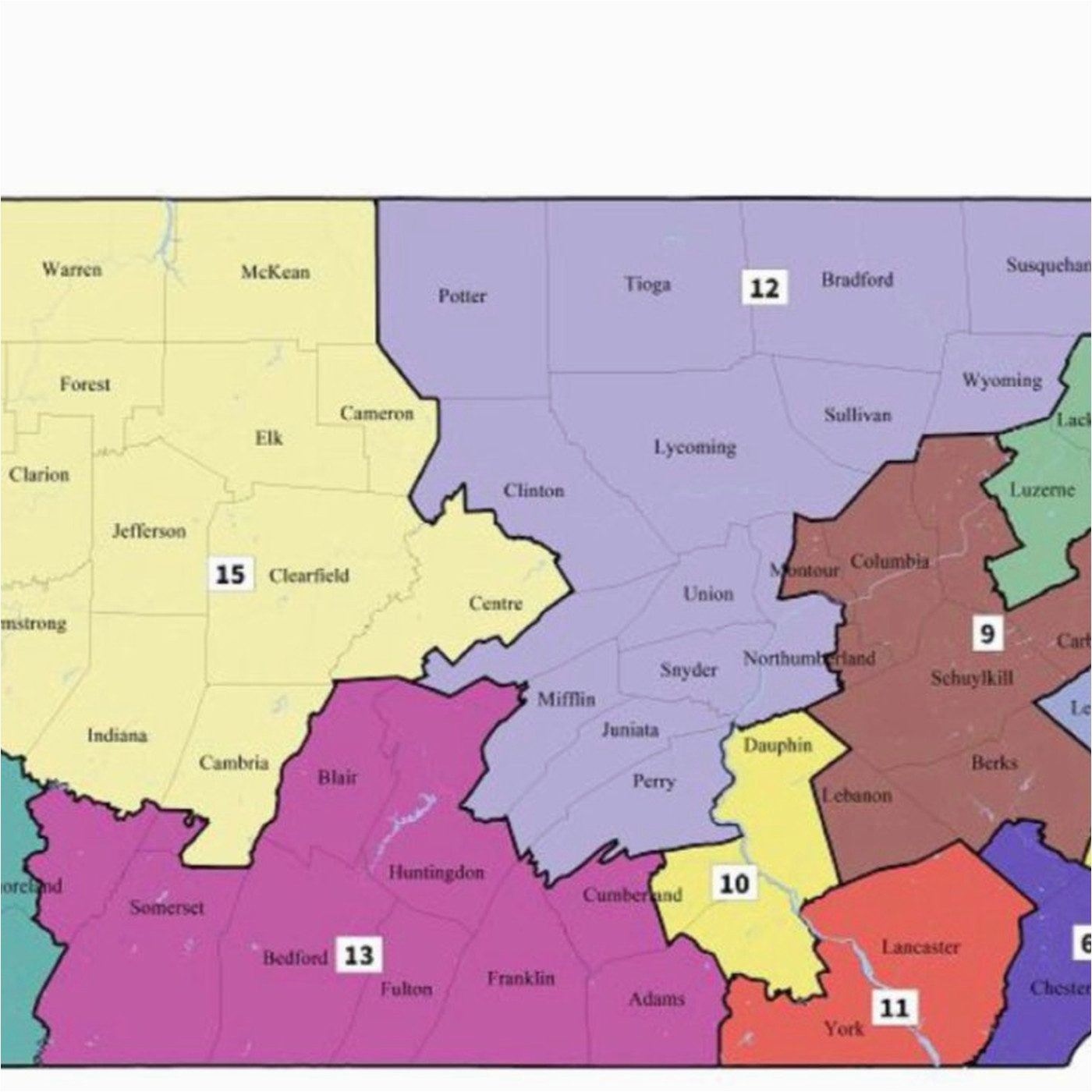 Colorado State Senate Districts Map Pennsylvania S New ...