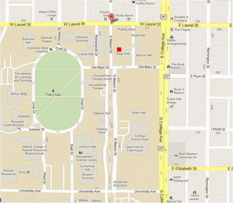 top colorado state university map galleries printable map new