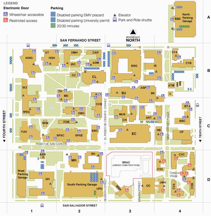 Colorado State University Map Colorado State University Maps Main Campus Map San Jose State