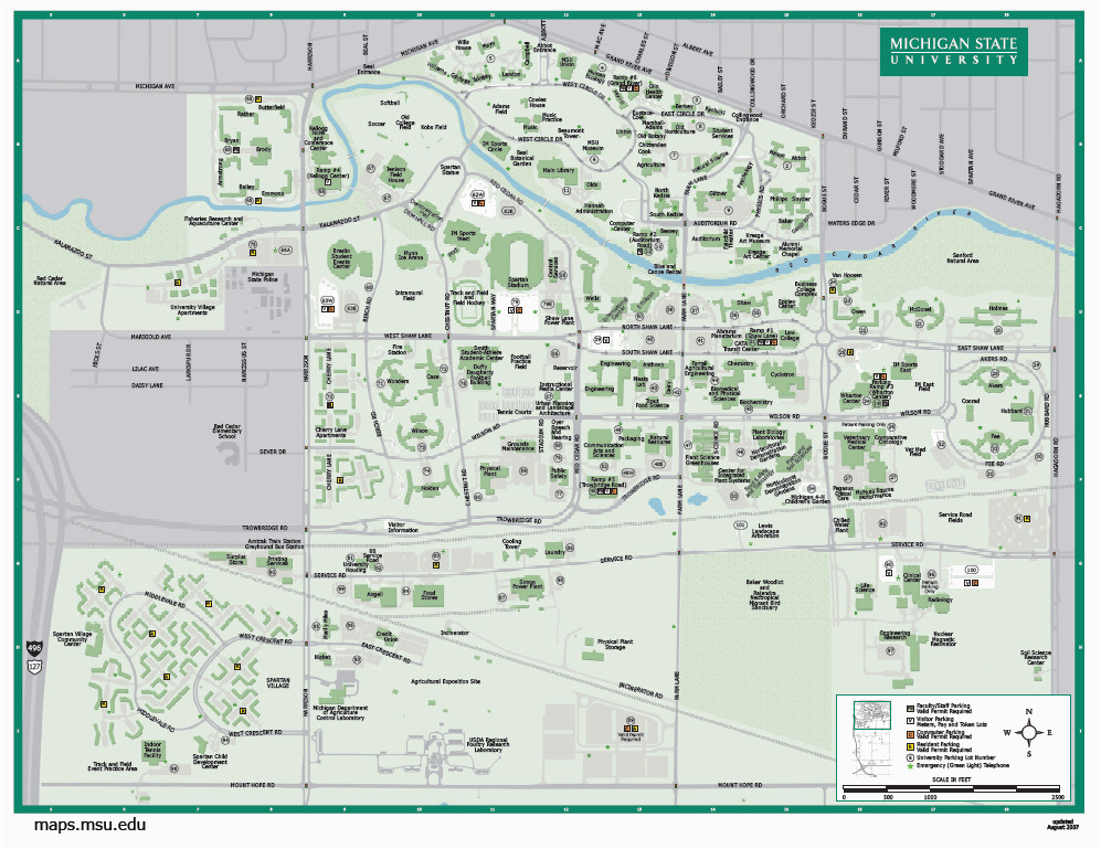 Colorado State University Maps Michigan State University Map Fresh ...