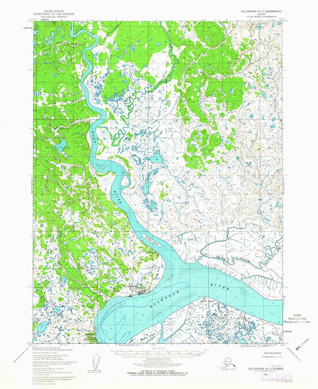 amazon com alaska maps 1952 dillingham ak usgs historical