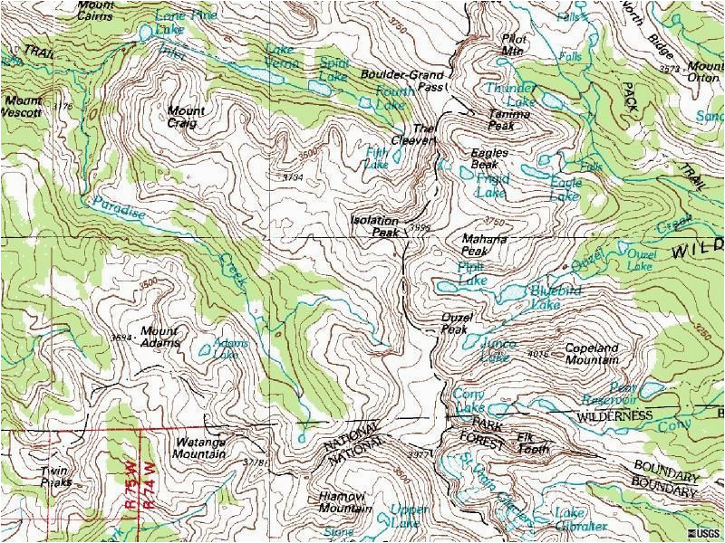 isolation peak colorado topographic map click for larger image