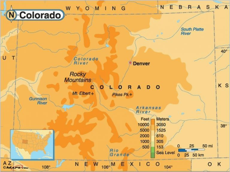 rocky mountain elevation map 29 cool colorado springs elevation map