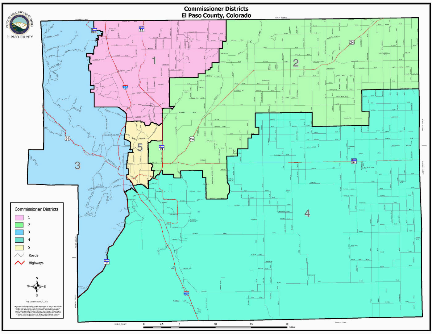 Colorado Water Districts Map Board Of County Commissioners El Paso County Board Of County
