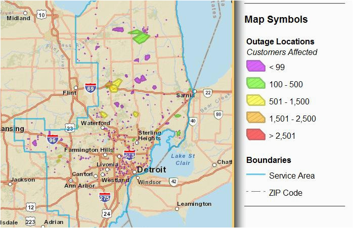 Consumers Energy Michigan Power Outage Map Consumers Energy Power Outage Map Maps Directions