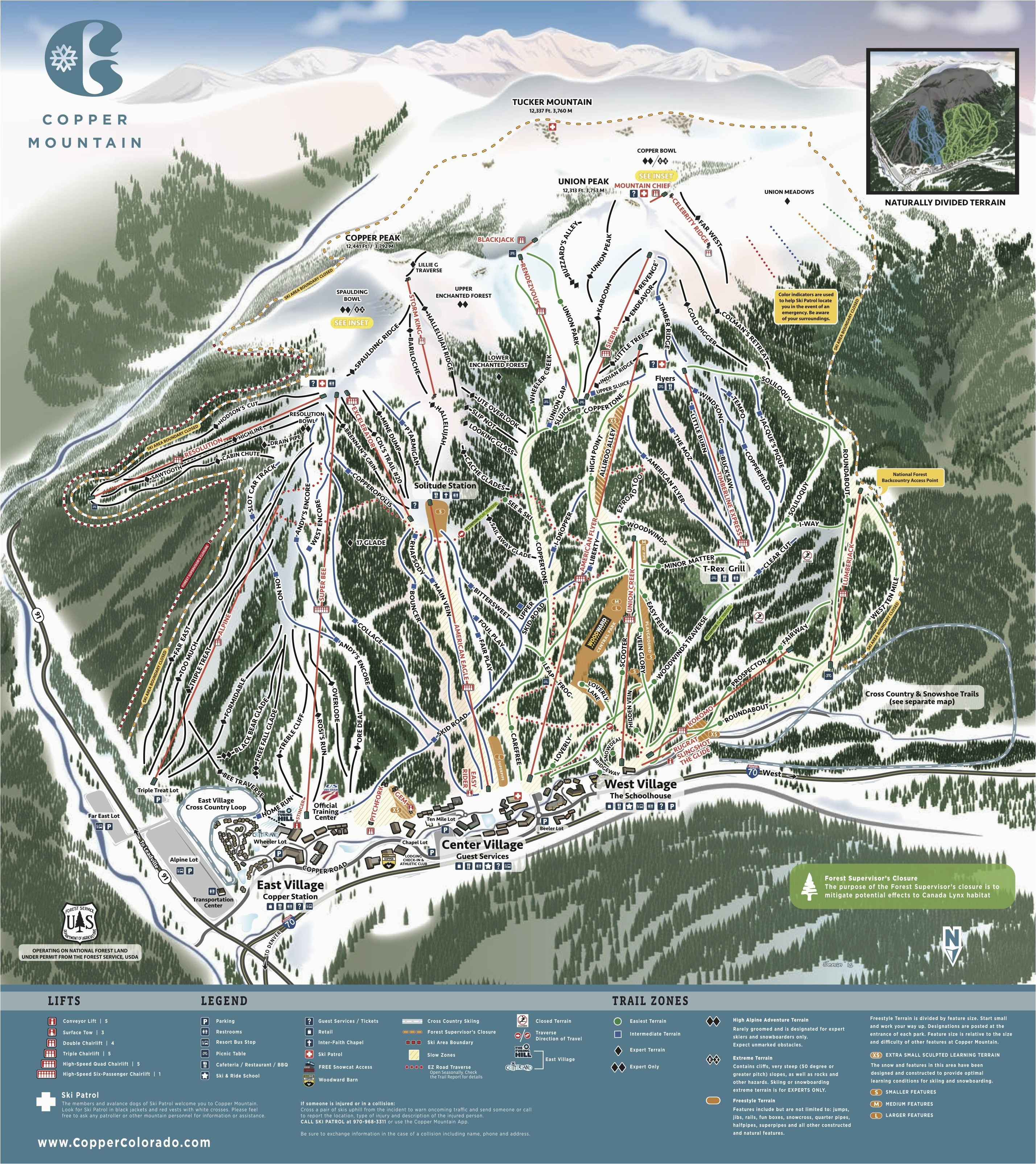 us east coast ski resorts map valid copper mountain resort trail map