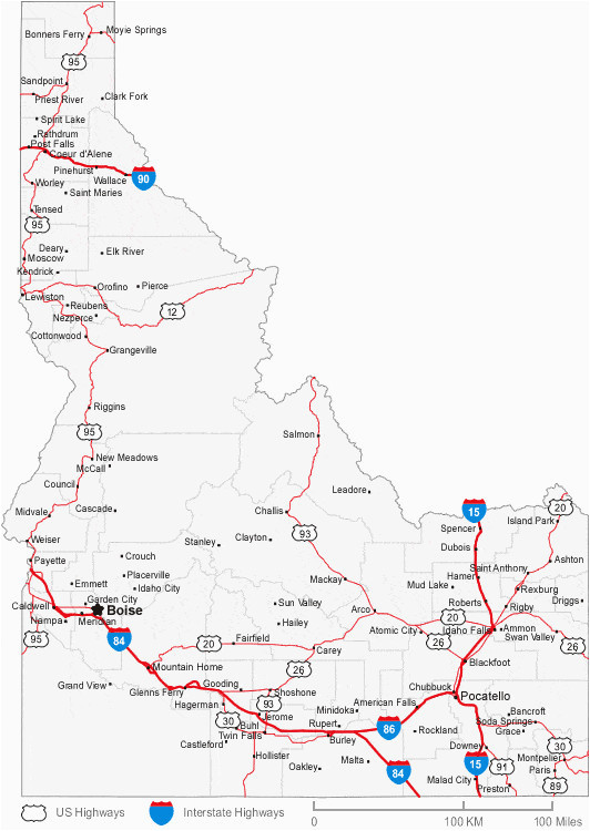 southern california map with cities and counties map of idaho