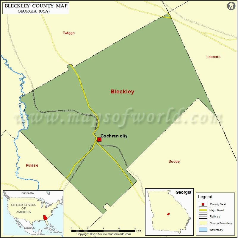 map of bleckley county in georgia usa county map pinterest