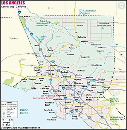 amazon com los angeles county map 36 w x 37 h office products