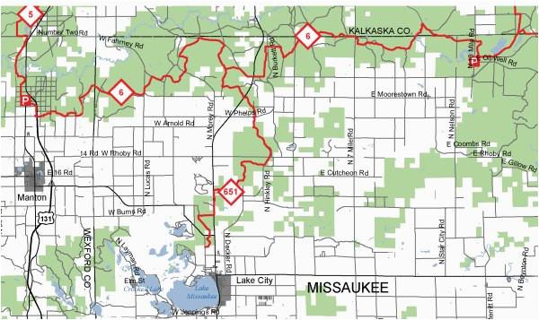 missaukee trail blazers trail maps