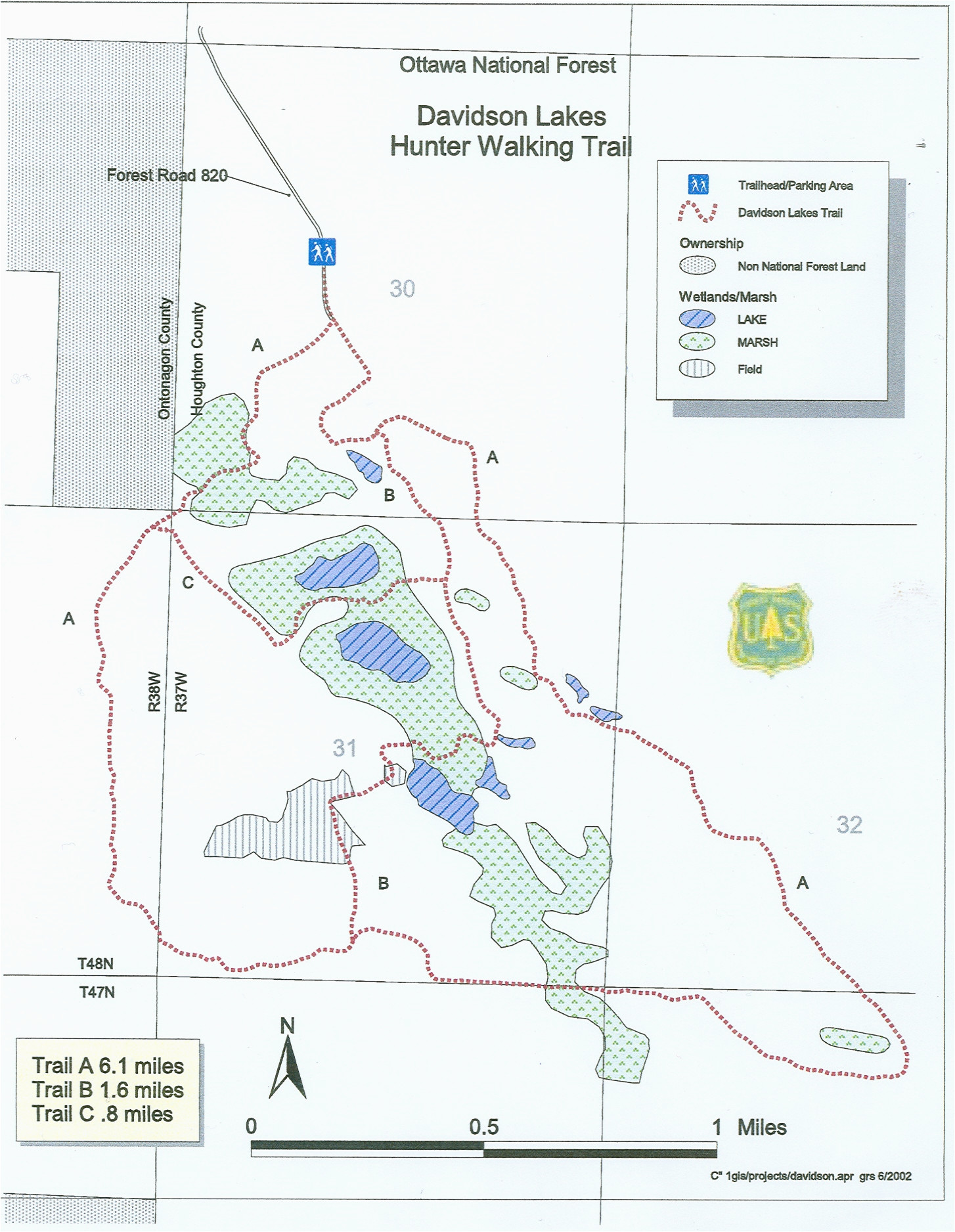 Crystal Mountain Michigan Trail Map Michigan Trail Maps