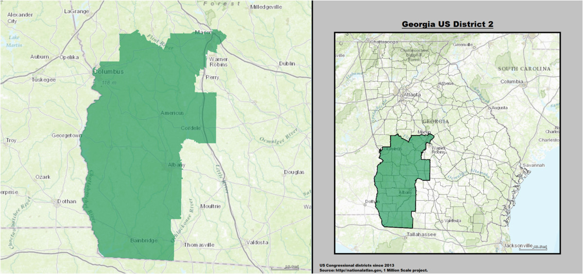 georgia s 2nd congressional district wikipedia