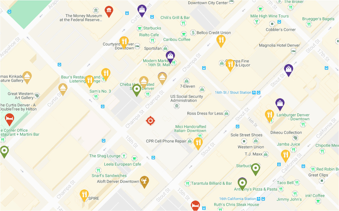 denver maps visit denver