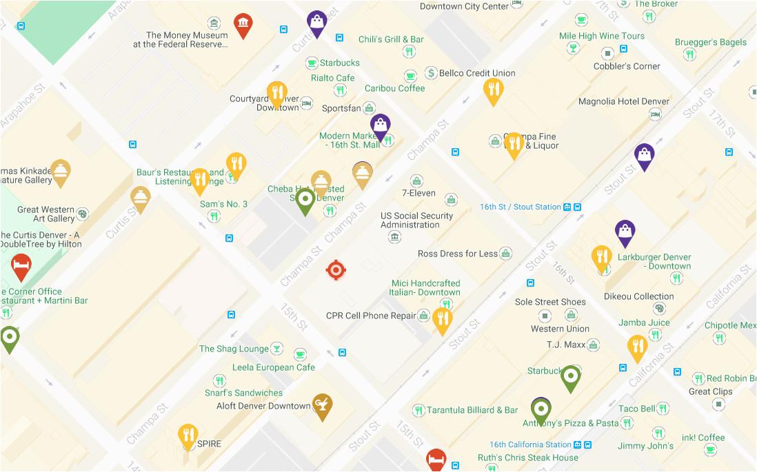 Denver Colorado Zip Code Map Denver Maps Visit Denver ...