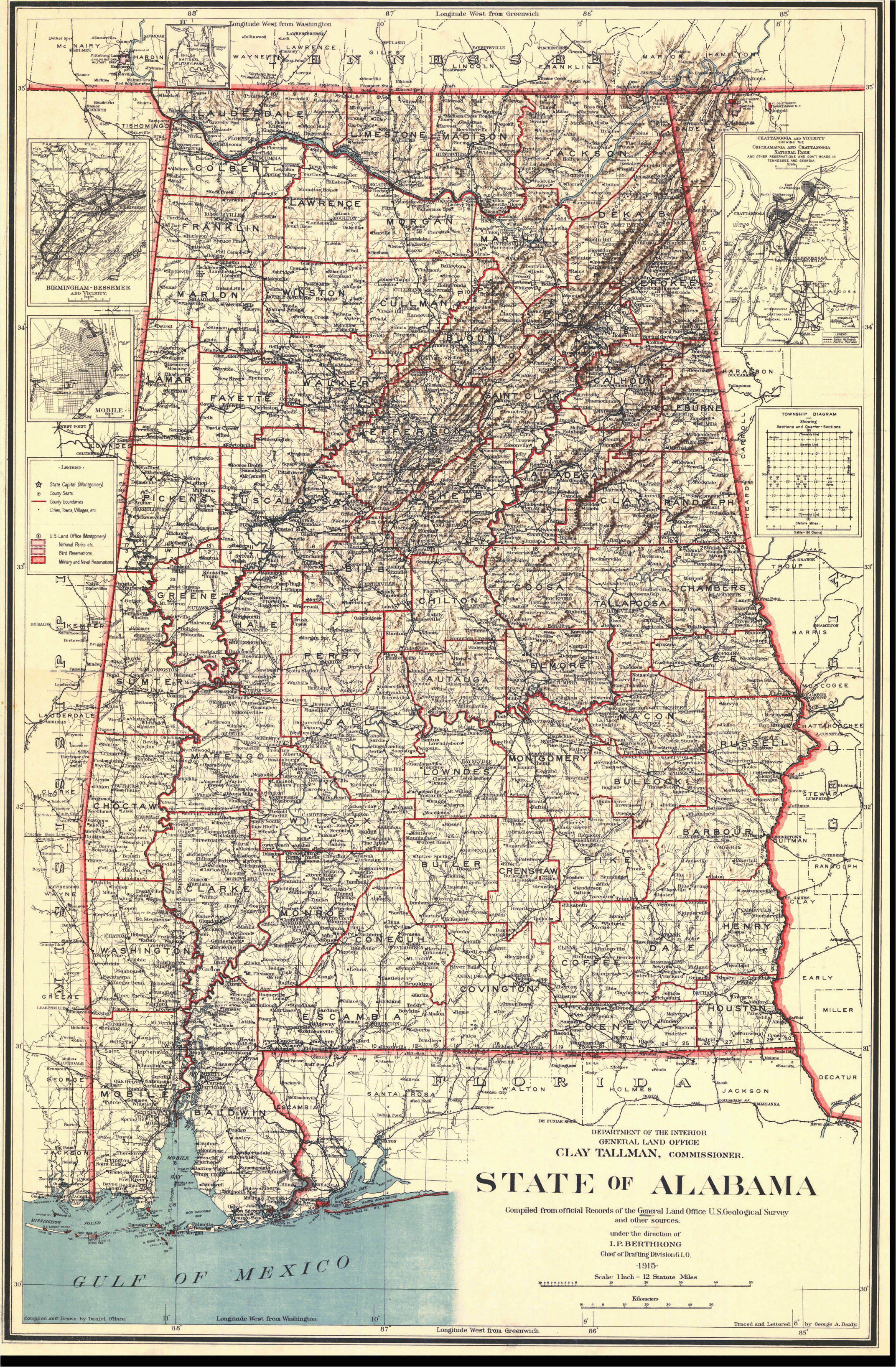 alabama maps alabama digital map library table of contents united