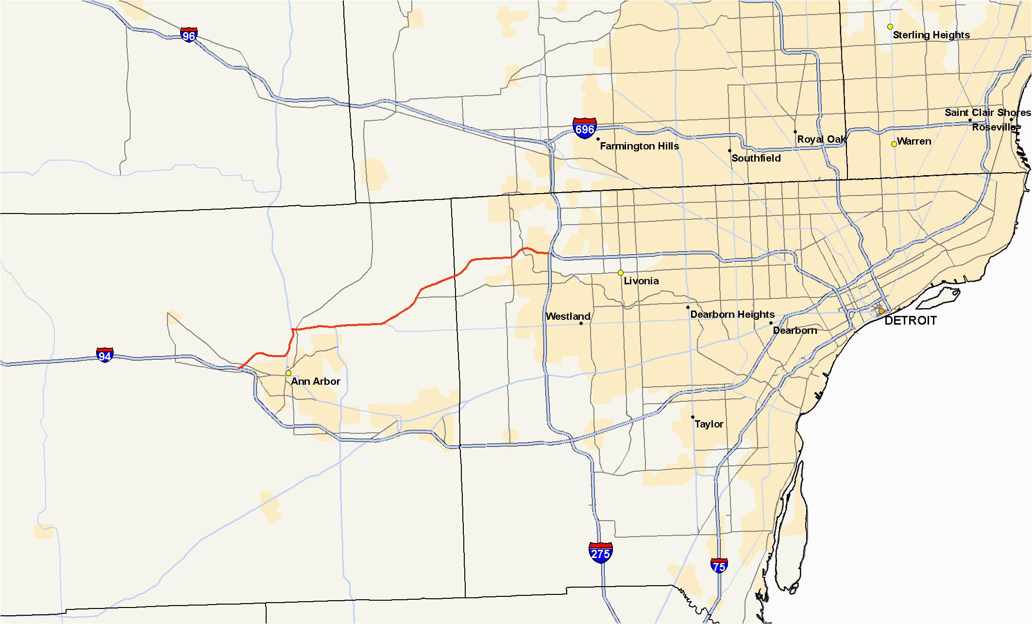 m 14 michigan highway wikipedia