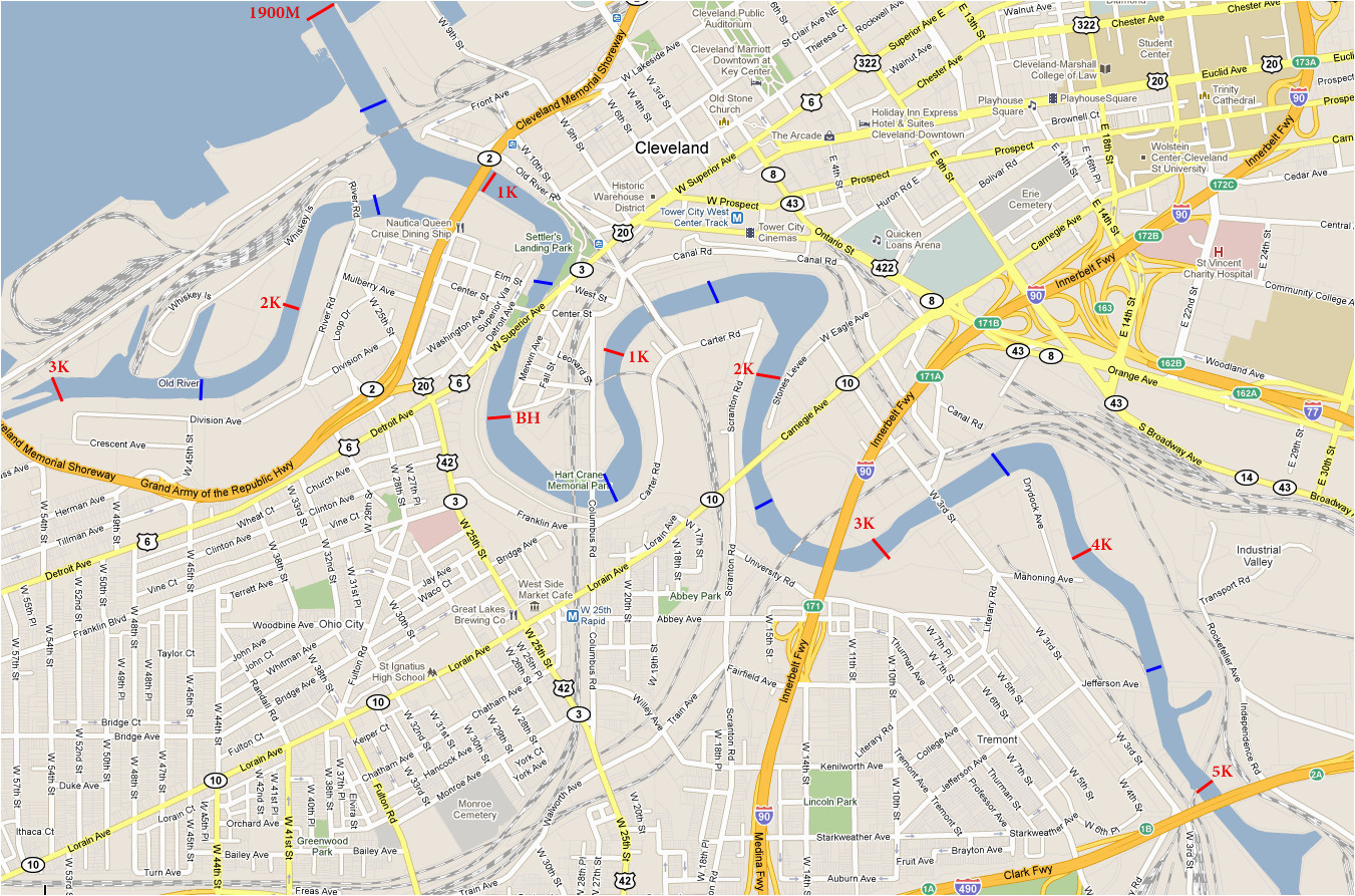 cuyahoga river cuyahoga river map ohio river ohio map