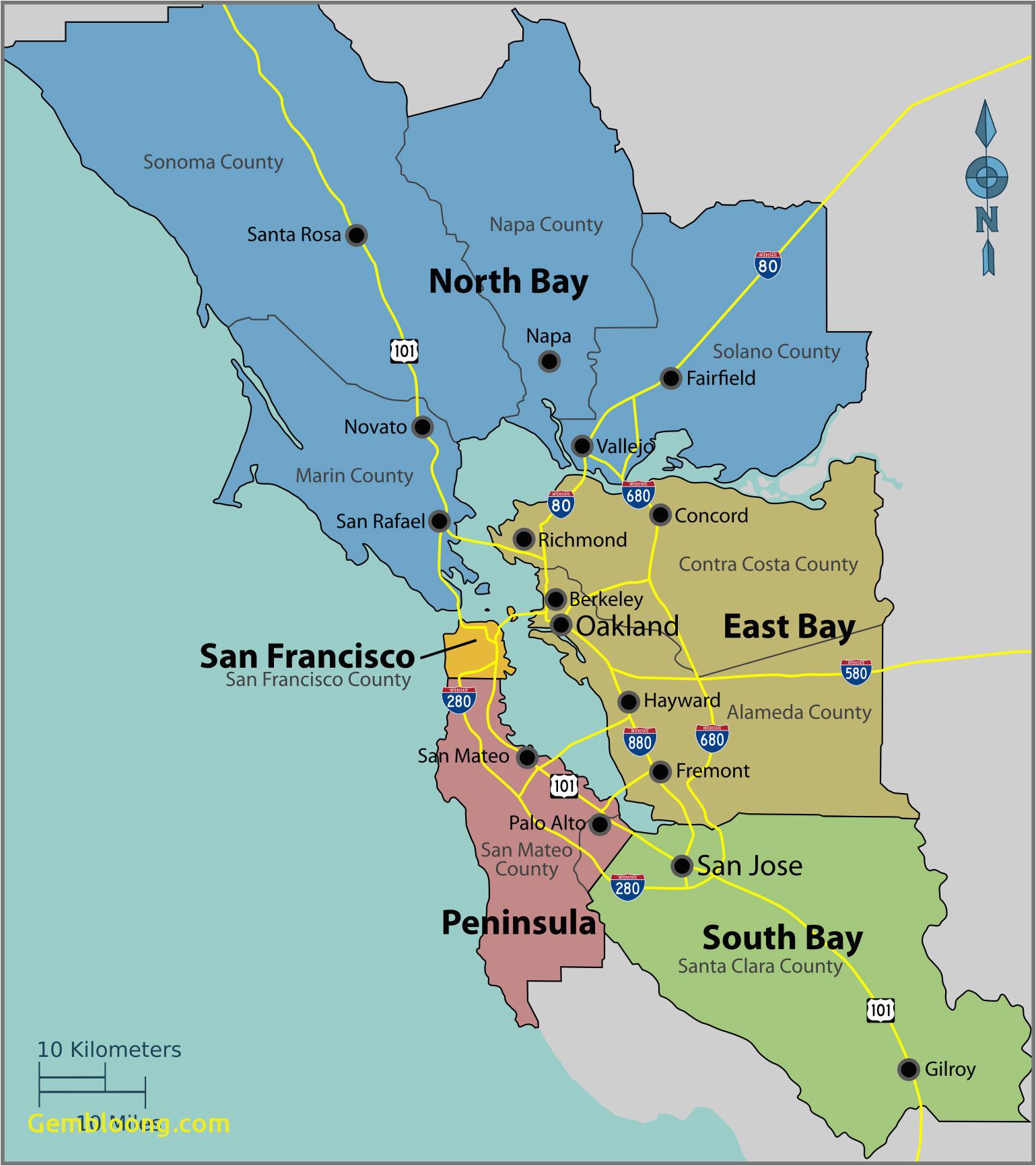 san francisco bay area high resolution map monterey county