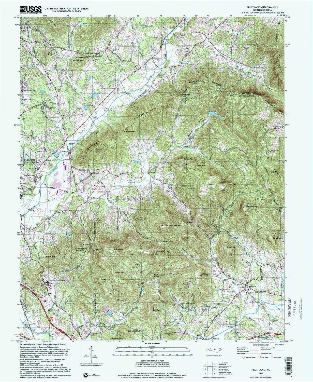 amazon com fruitland nc topo map 1 24000 scale 7 5 x 7 5 minute