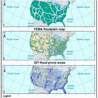 pdf dataset of 100 year flood susceptibility maps for the