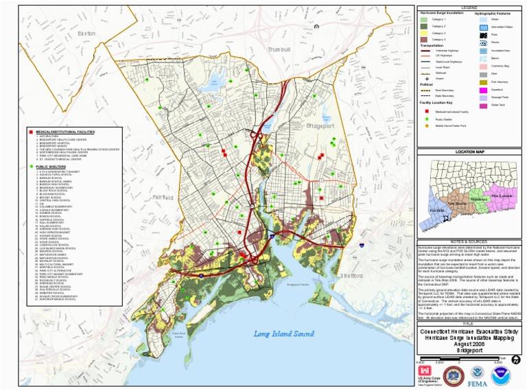 bridgeport flood zone map