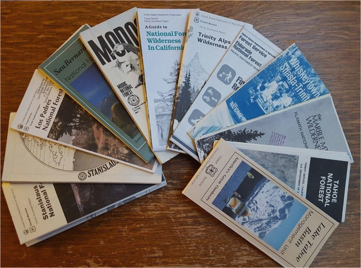 11 vintage national forest service visitor maps california 1918430349