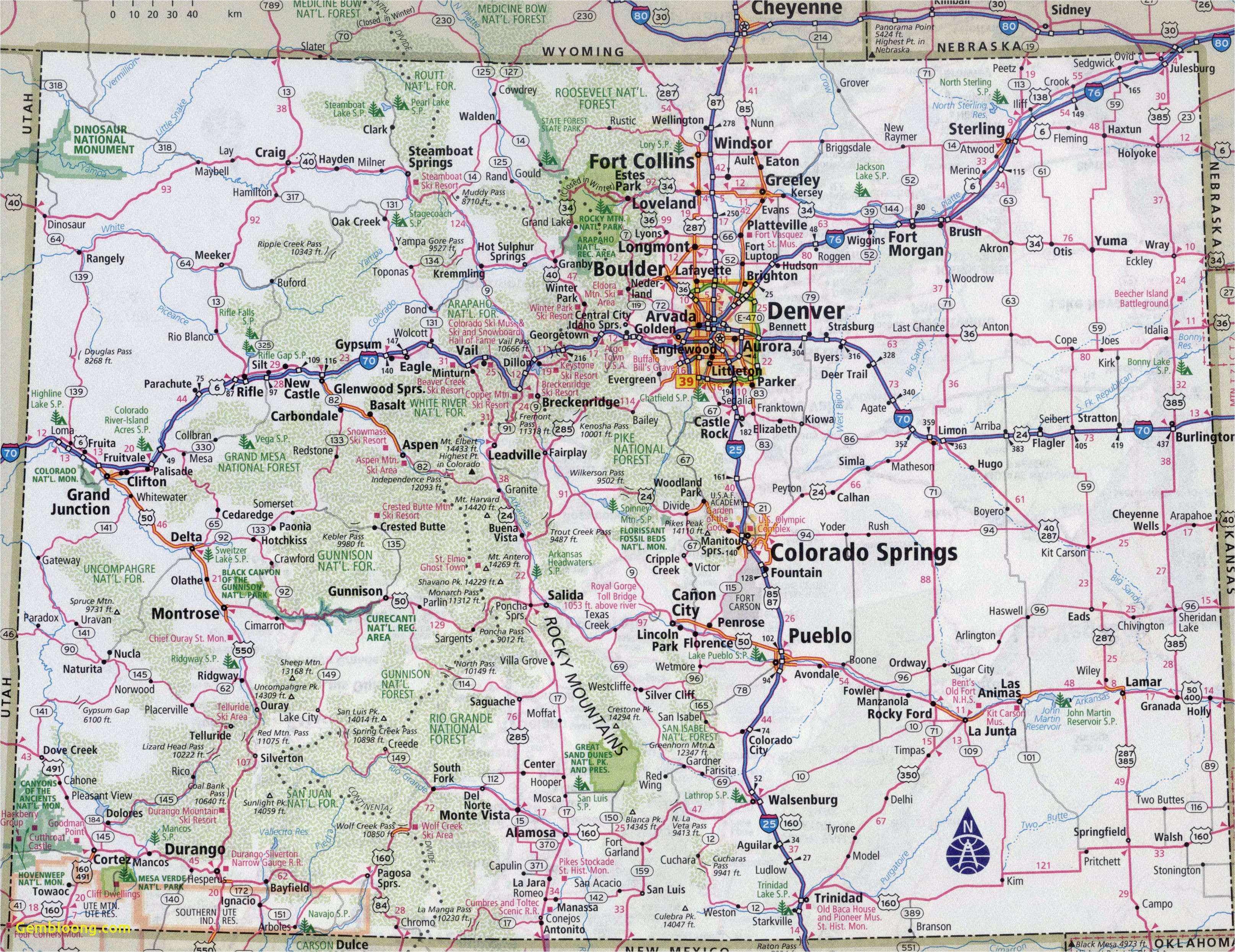 colorado highway map new colorado county map with roads fresh