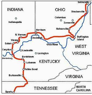Fredericksburg Ohio Map Morgan S Raid Wikipedia