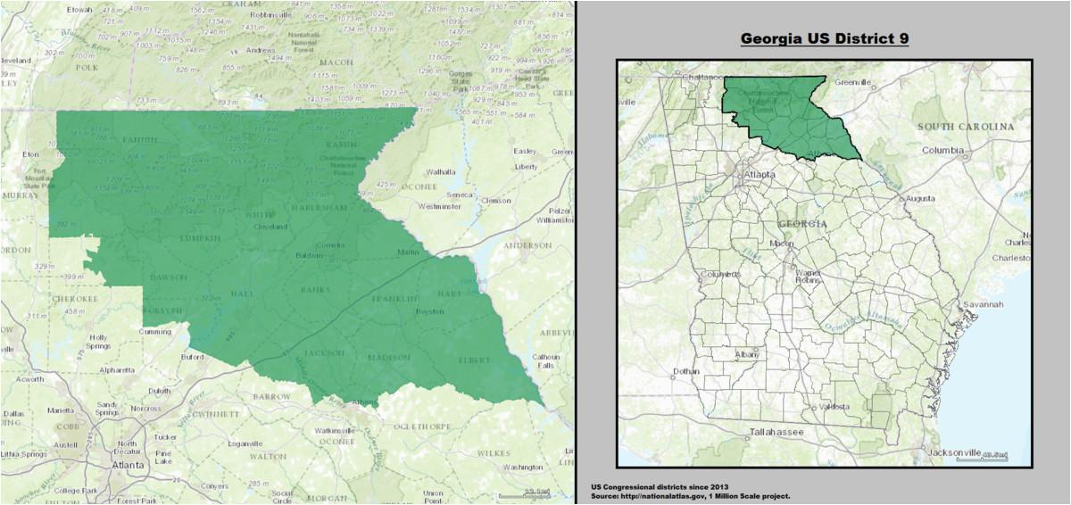 georgia s 9th congressional district wikipedia