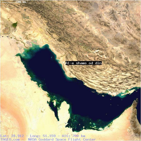 al e shams od din bushehr iran geography population map cities
