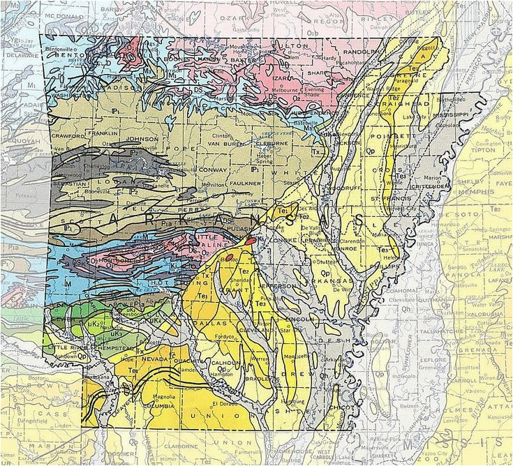 geologic maps of the 50 united states fifty nifty arkansas
