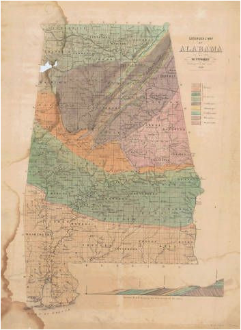 geological map of alabama 1849 map geology alabama usa maps