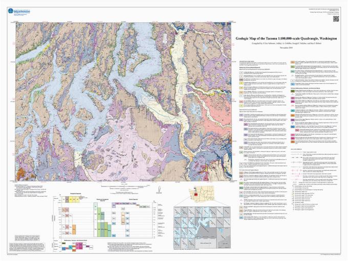 newly published geologic map of the tacoma 1 100 000 scale