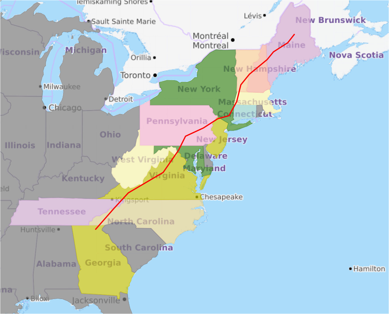 Georgia Appalachian Trail Map Pdf Appalachian Trail Georgia Map ...