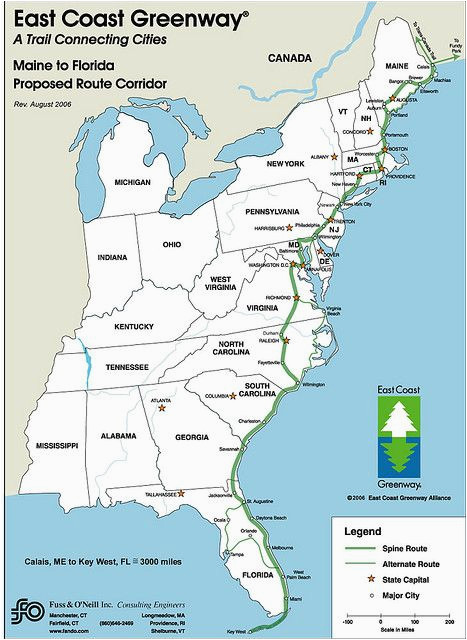 bucket list the nearly complete 3 000 mile long east coast greenway