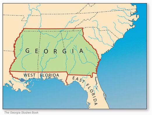 Map Of Georgia Colony.Georgia Colony Map Secretmuseum
