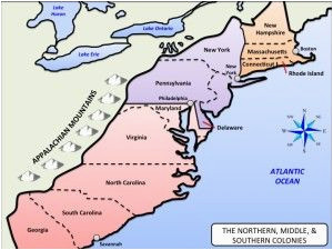 northern middle southern colonies map u s history maps