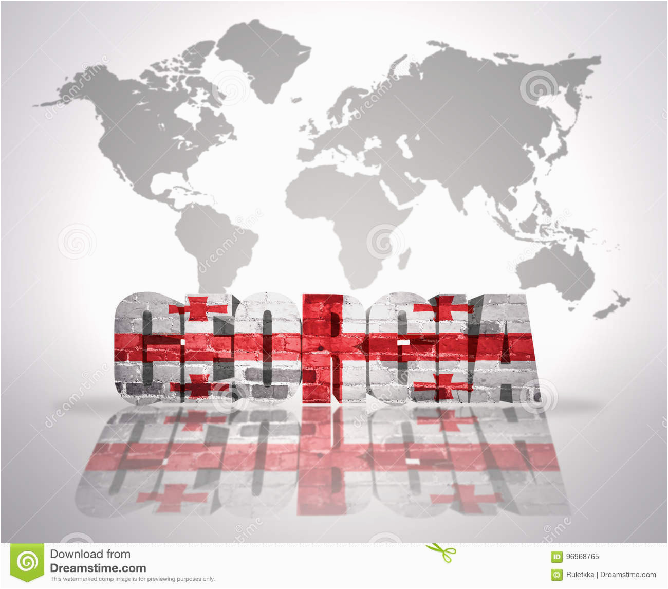 word georgia on a world map background stock illustration