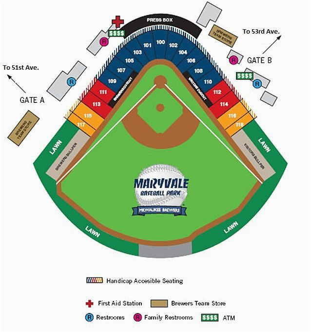 Georgia Dome Seat Map Seating Chart For Maryvale Baseball Park And Brewers